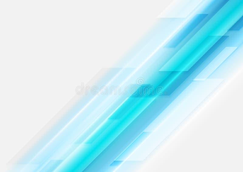 Luz abstrata - fundo azul do vetor do movimento da tecnologia ilustração do vetor