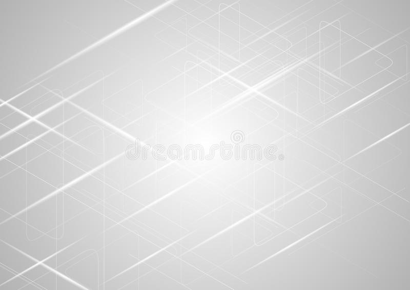 Luz abstrata - fundo brilhante do inclinação cinzento ilustração stock