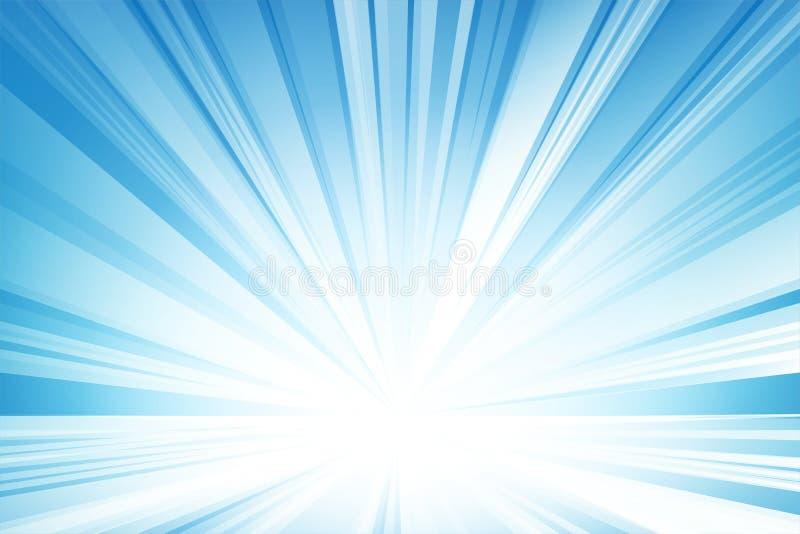 Luz abstrata - fundo, vetor e ilustração azuis ilustração do vetor