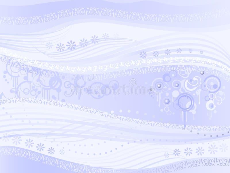 Luz abstrata - música estranha do aka azul do fundo ilustração do vetor