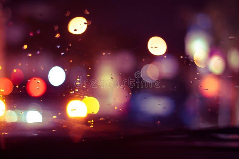Luz abstrata na calha vista outono um o vidro imagem de stock
