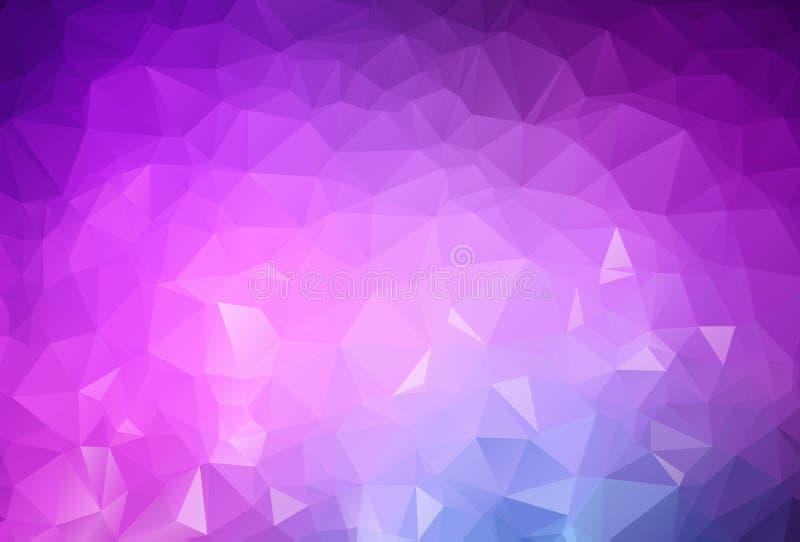 Luz abstrata - o sumário roxo do vetor textured o fundo poligonal Projeto obscuro do triângulo O teste padrão pode ser usado para ilustração stock