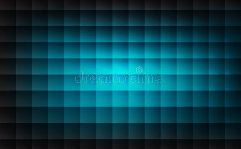 Luz abstrata - os testes padrões azuis esquadram o fundo da forma ilustração stock