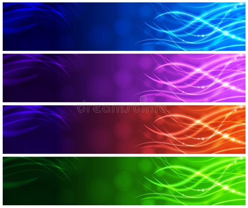 A luz-Acima encalha bandeiras da Web ilustração do vetor