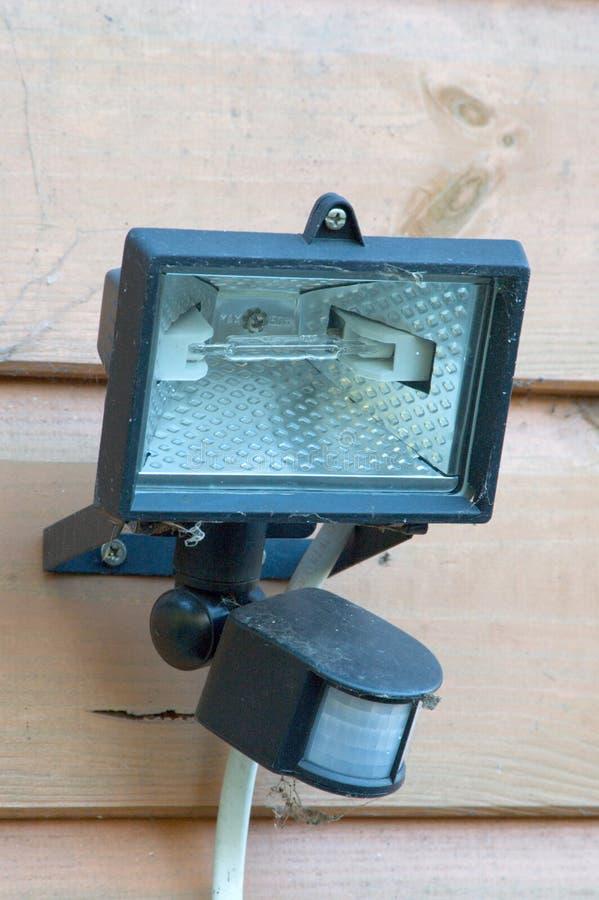 Luz al aire libre de la seguridad del halógeno imagen de archivo libre de regalías