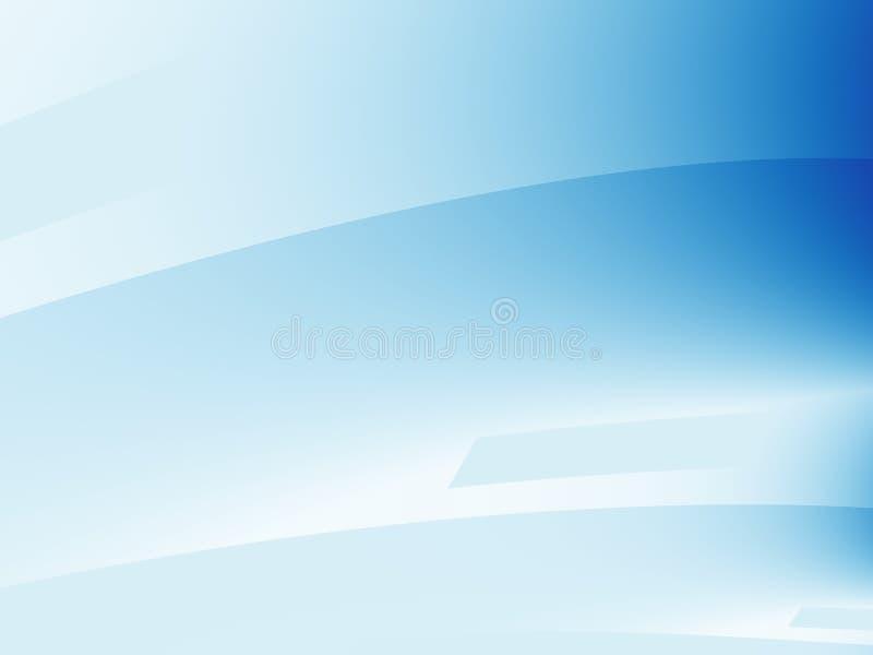 Luz - arte abstrata moderna azul do fractal Ilustração simples do fundo com inclinações e blocos Molde gráfico criativo Profe ilustração stock