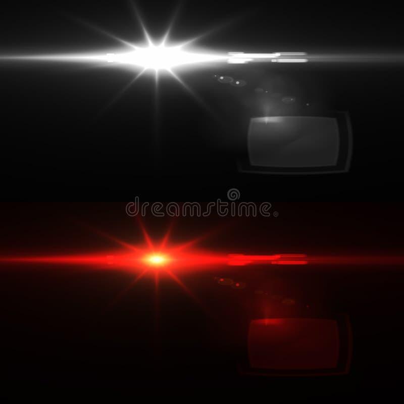 Luz asombrosa con las llamaradas ópticas imágenes de archivo libres de regalías