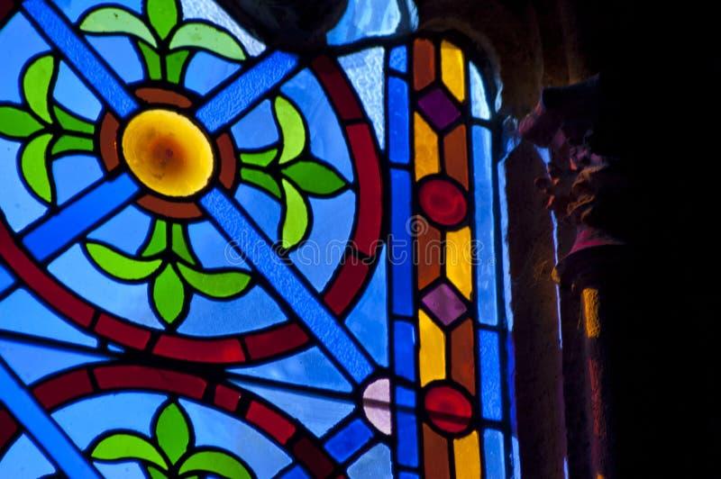 Luz através da janela de vitral imagens de stock royalty free