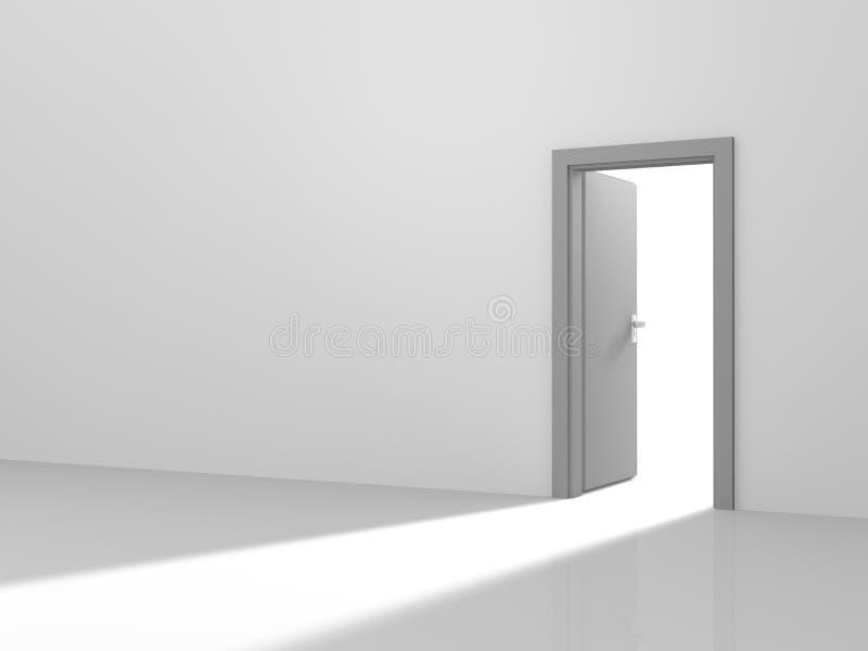 Luz através de uma porta ilustração royalty free
