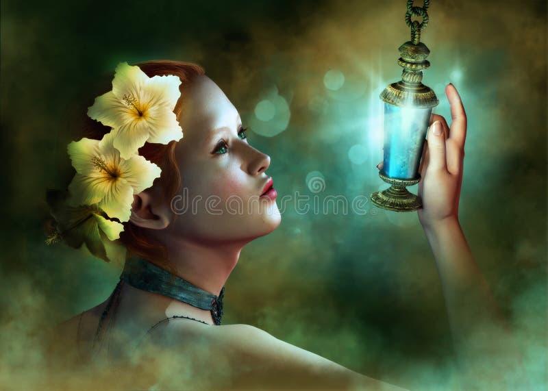 Luz azul stock de ilustración