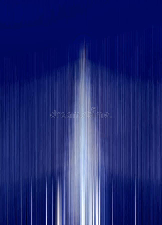 Luz azul abstracta de la falta de definición de movimiento fotos de archivo