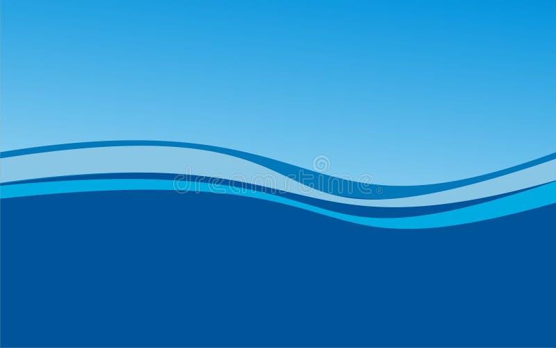 Luz azul abstracta del fondo de la onda y combinación azul marino stock de ilustración