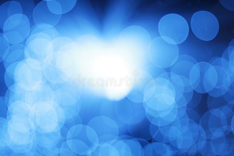 Luz azul abstrata ilustração do vetor