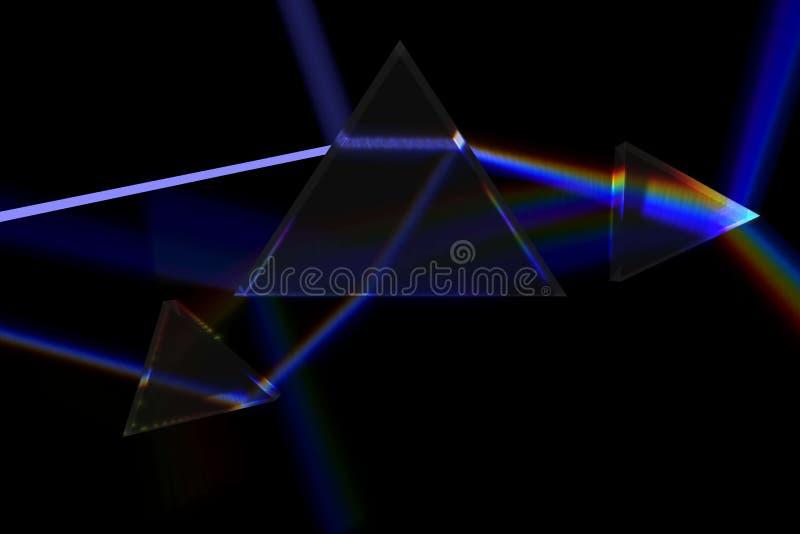 Luz azul através do prisma fotografia de stock royalty free