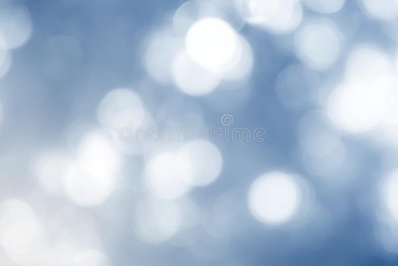 A luz azul da cor, fundo do sumário do bokeh da luz suave fotografia de stock royalty free