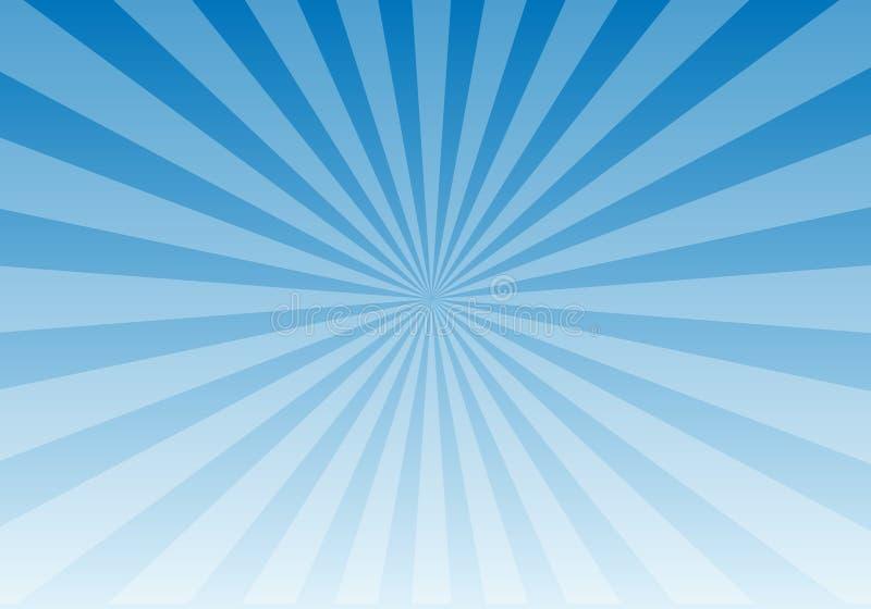 Luz azul de Sun ilustração stock