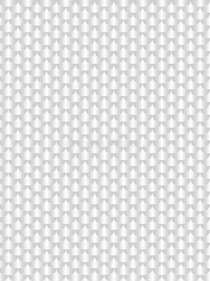 Luz blanca de aluminio cepillada del metal, textura de la escama inconsútil Vec libre illustration