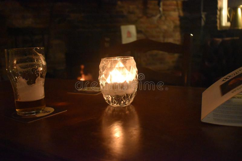 Luz bonita na noite imagem de stock royalty free