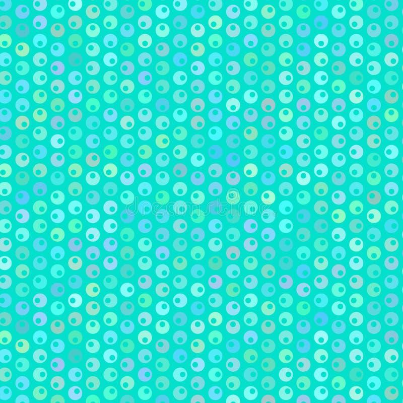 A luz borbulha teste padrão no fundo azul, vetor ilustração stock