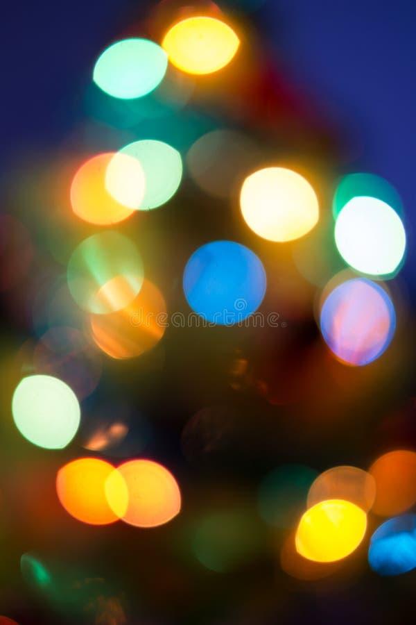 Luz borrosa abstracta con el fondo azul marino imágenes de archivo libres de regalías
