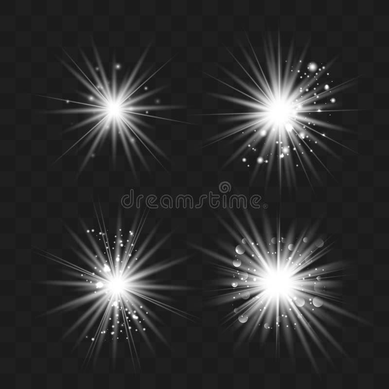 Luz branca com poeira ilustração stock