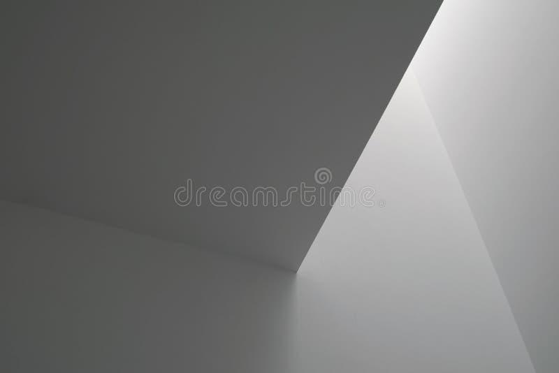 Luz branca em paredes imagens de stock royalty free
