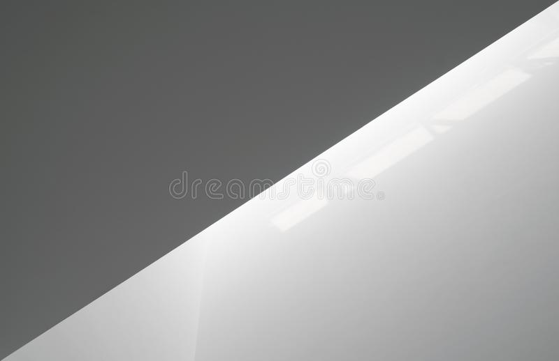 Luz branca em paredes foto de stock
