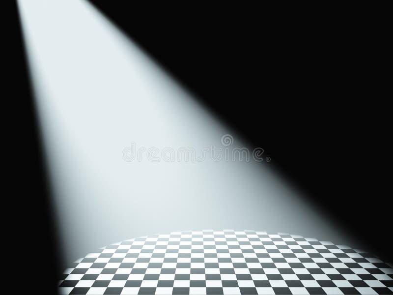 Luz branca Volumetric ilustração do vetor