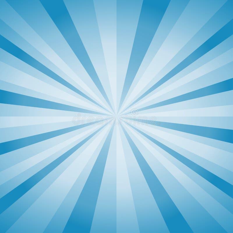 Luz brilhante abstrata - o azul irradia o fundo Vetor ilustração stock