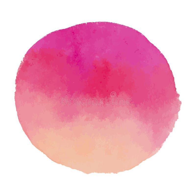 Luz brilhante - mancha cor-de-rosa da bandeira da aquarela do vetor ilustração royalty free