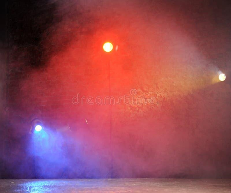 Luz brillante del concierto en club fotografía de archivo libre de regalías