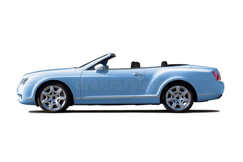 Luz - cabriolet azul fotografia de stock royalty free