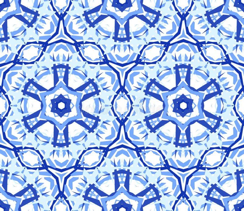 Luz calidoscópico - ornamento azul da flor ilustração royalty free