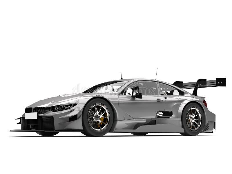 Luz - carro super moderno cinzento ilustração royalty free