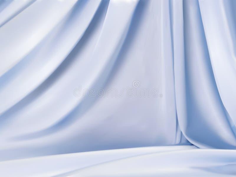 Luz - cetim azul ilustração royalty free