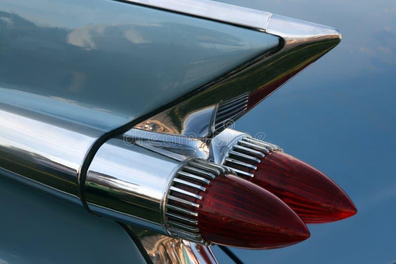 Luz clásica de la cola del coche foto de archivo