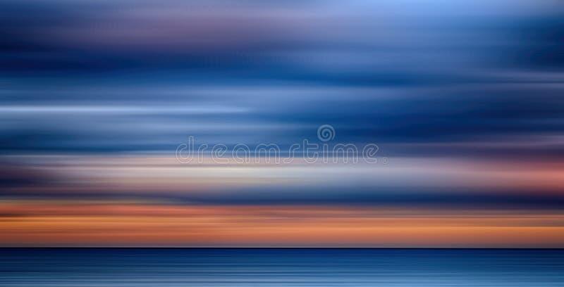 A luz colorida abstrata arrasta o fundo, borrão de movimento ilustração royalty free