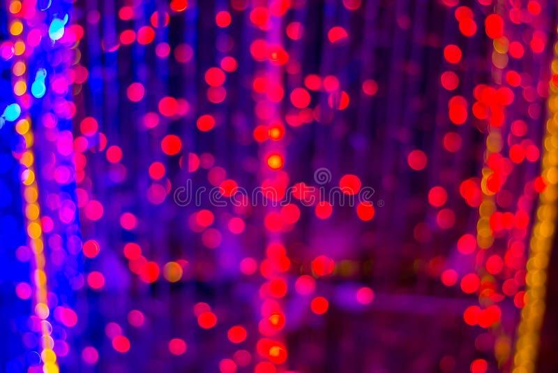 Luz colorida defocused del bokeh del extracto para el fondo imagen de archivo