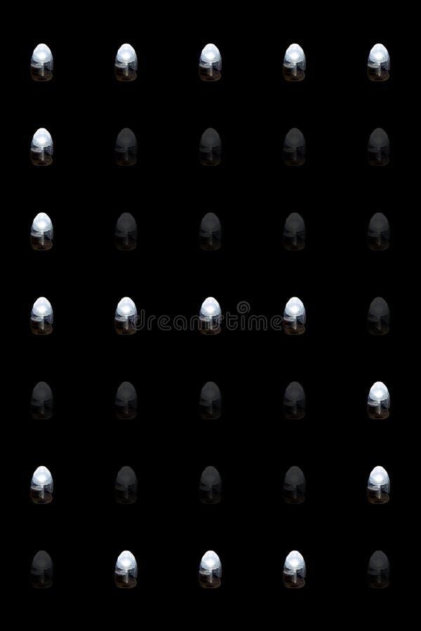 Luz conduzida número cinco imagens de stock