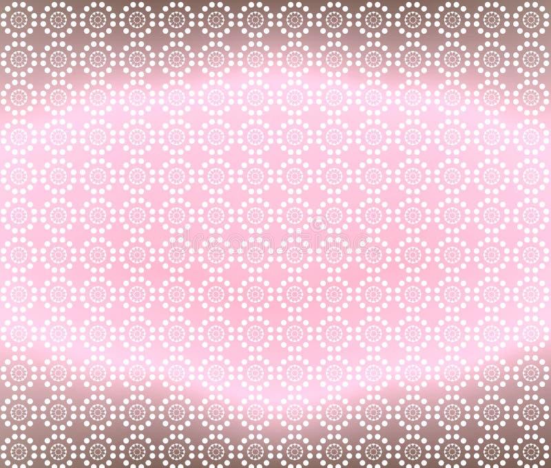 Luz - cor-de-rosa e fundo do papel de parede de Brown ilustração royalty free