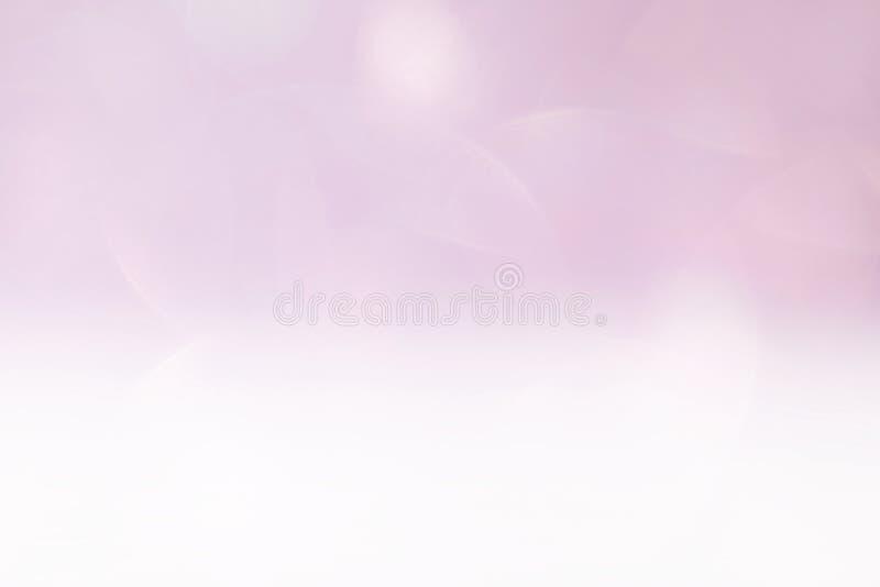 Luz cosmética luxuosa lisa, luxo roxo do brilho do fundo macio cor-de-rosa da cor da máscara do inclinação do rosa do fundo da be imagem de stock