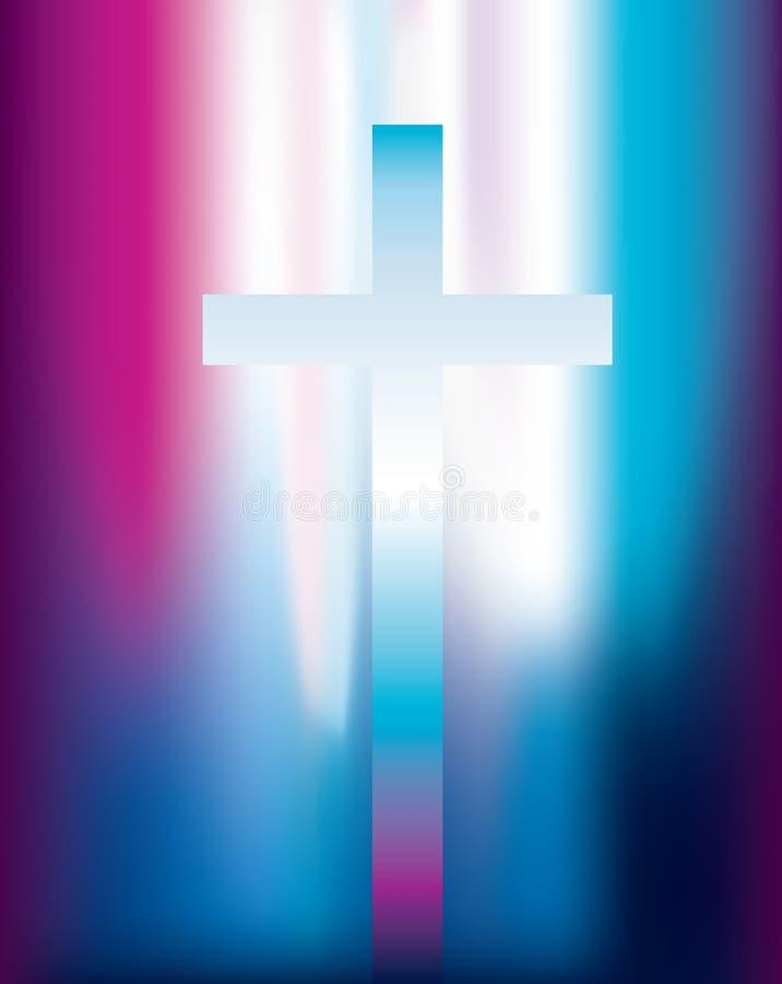 Luz cruzada cristiana ilustración del vector