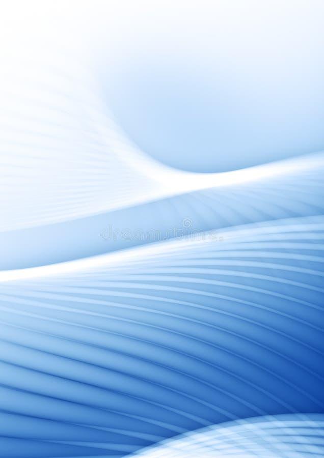 Luz - curvas azuis ilustração royalty free