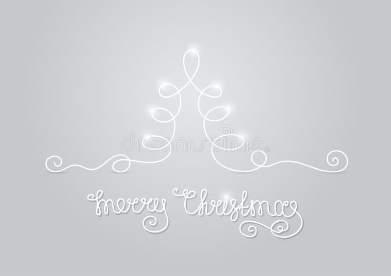 luz da árvore de Natal do cartão ilustração stock