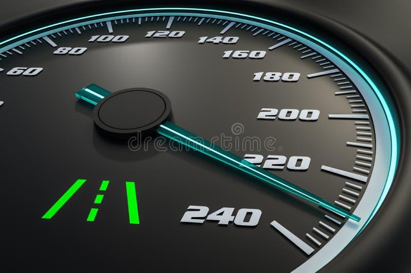 Luz da assistência da pista no painel do carro ilustração do vetor