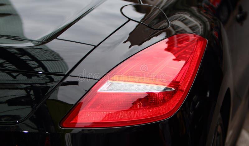 Luz da cauda do carro de esportes. imagem de stock royalty free