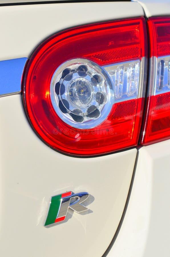 Luz da cauda do carro de esportes imagens de stock