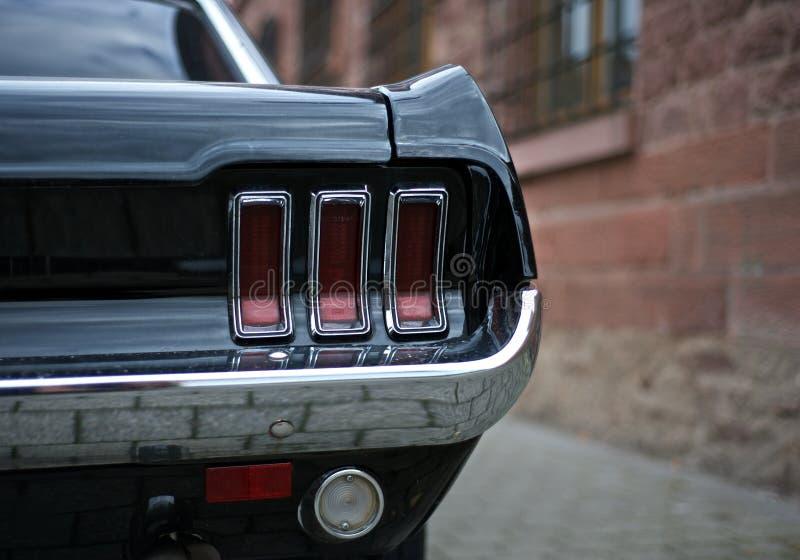 Luz da cauda do mustang GT 1968 imagens de stock