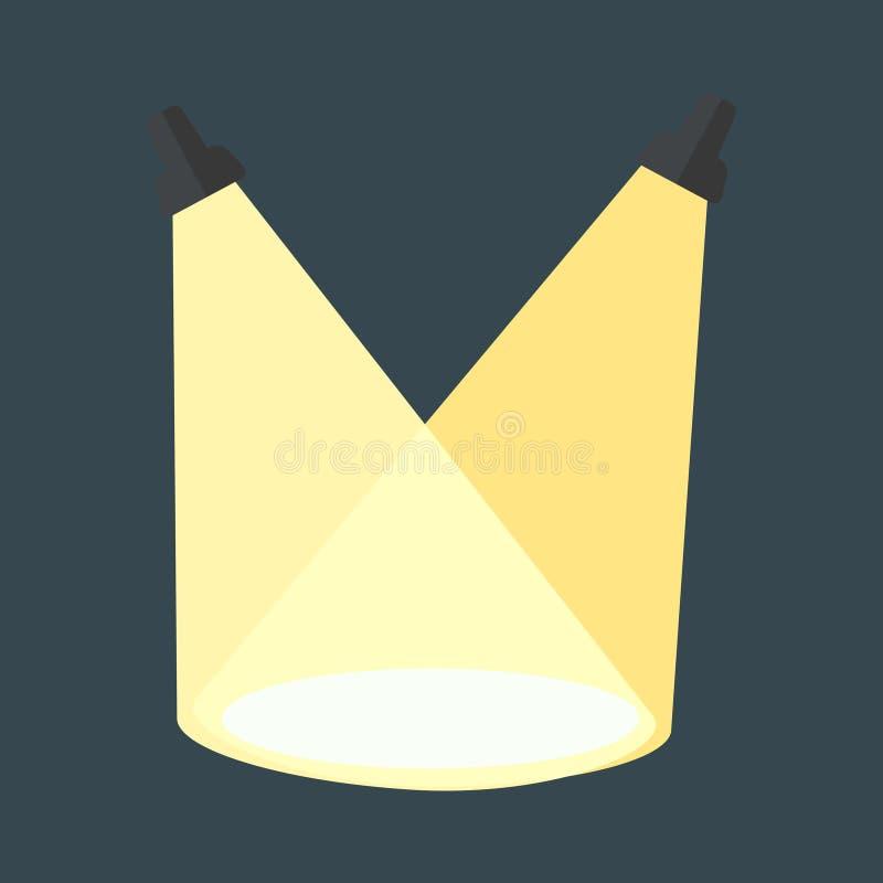 Luz da cena do vetor ilustração stock