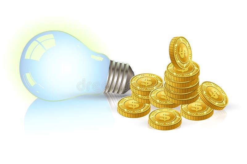 Luz da economia ilustração royalty free